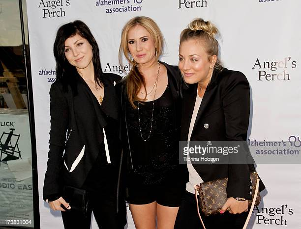 Briana Cuoco Ashley Jones and Kaley Cuoco attend the Alzheimer's Association and Scrappy Cat Productions premiere of 'Angel's Perch' at Laemmles...
