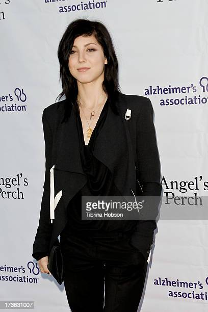 Briana Cuoco attends the Alzheimer's Association and Scrappy Cat Productions premiere of 'Angel's Perch' at Laemmles Royal Theatre on July 17 2013 in...