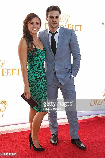 Briana Evigan and Ryan Guzman attend the 3rd Annual Dizzy Feet Foundation's Celebration Of Dance Gala at Dorothy Chandler Pavilion on July 27 2013 in...