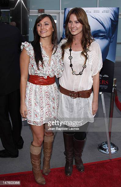 Briana Evigan and sister Vanessa Lee arrive at the Los Angeles Premiere of The Informers on April 16 2009 in Hollywood California