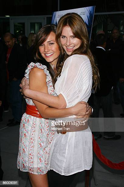 Briana Evigan and Vanessa Lee Evigan arrive to the Los Angeles premiere of The Informers held at Arclight Theaters on April 16 2009 in Hollywood...