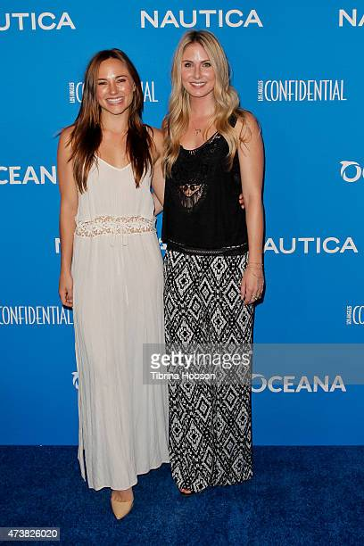 Briana Evigan and Vanessa Lee Evigan attends the 3rd annual Nautica Oceana beach house party at Marion Davies Guest House on May 8 2015 in Santa...