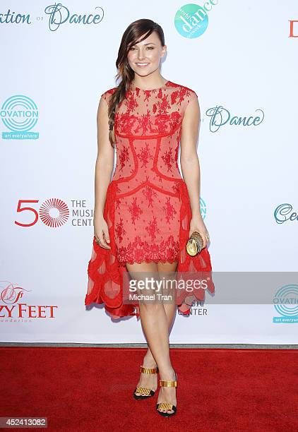 Briana Evigan arrives at The Dizzy Feet Foundation's 4th Annual Celebration of Dance Gala held at Dorothy Chandler Pavilion on July 19 2014 in Los...