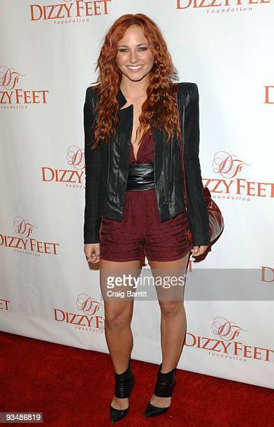 Briana Evigan arrives at the Dizzy Feet Foundation's Inaugural Celebration Of Dance at the Kodak Theatre on November 29 2009 in Hollywood California