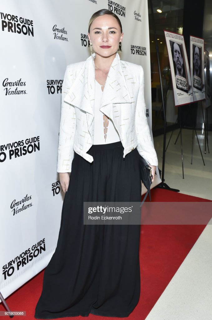 Briana Evigan attends the premiere of Gravitas Pictures' 'Survivors Guide To Prison' at The Landmark on February 20, 2018 in Los Angeles, California.