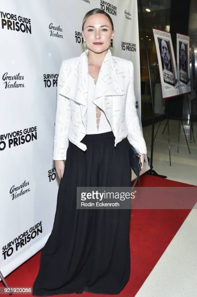 Briana Evigan attends the premiere of Gravitas Pictures' 'Survivors Guide To Prison' at The Landmark on February 20 2018 in Los Angeles California