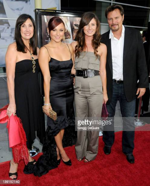 Briana Evigan Mom Pamela Serpe sister Vanessa Lee Evigan and father Greg Evigan arrive at the Los Angeles Premiere of Sorority Row at the ArcLight...
