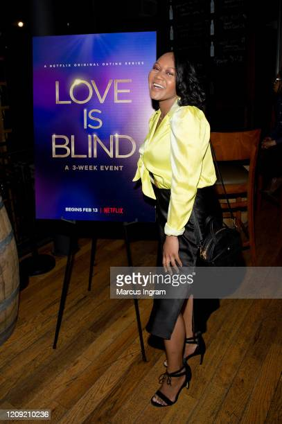 Briana Holmes attends the Netflix's Love is Blind VIP viewing party at City Winery on February 27 2020 in Atlanta Georgia
