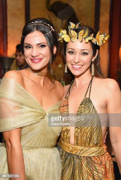 Briana Lane and Autumn Reeser at the UNICEF Next Generation Masquerade Ball at Clifton's Republic on October 27 2017 in Los Angeles California