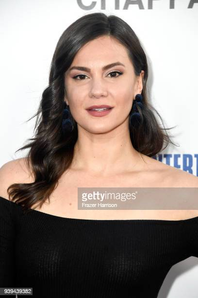 Briana Lane attends the premiere of Entertainment Studios Motion Picture's 'Chappaquiddick' at Samuel Goldwyn Theater on March 28 2018 in Beverly...