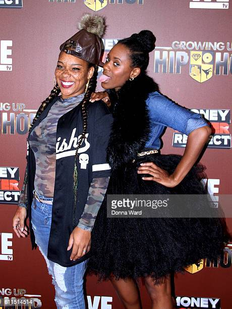 Briana Latrise and Aria Dixon attend the Growing Up Hip Hop Season 2 Premiere at The Paley Center for Media on September 29 2016 in New York City