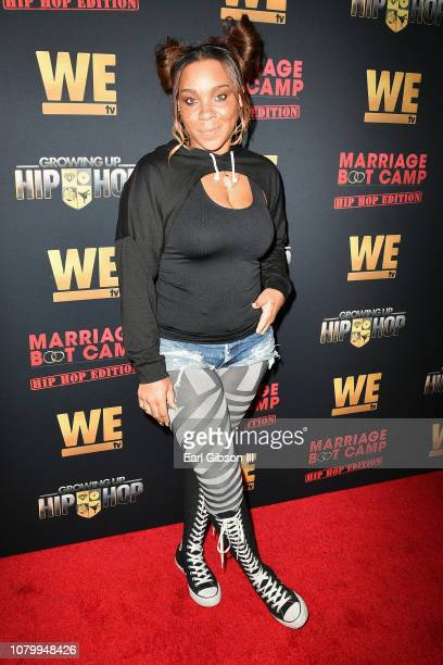 Briana Latrise attends WE tv Celebrates The Premiere Of Marriage Boot Camp Hip Hop Edition And Growing Up Hip Hop at Nightingale on January 9 2019 in...