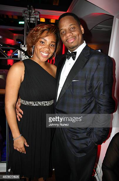 Briana Latrise Isaacs and Kendu Isaacs during Celebrate Mary Party Hosted by Jada and Will Smith Inside at Boulevard 3 in Hollywood California United...