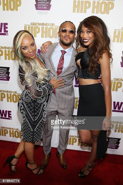 """Briana Latrise, Romeo Miller, and Tahira Francis attend WE tv's celebration of """"Growing Up Hip Hop"""" Season 3 at the Smithsonian Institute National..."""