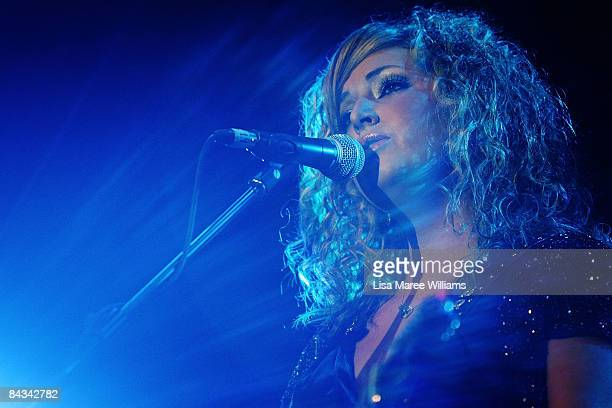 Briana Lee performs in the grand final of 30th presentation of The Telstra Star Maker competition during the 37th Tamworth Country Music Festival on...