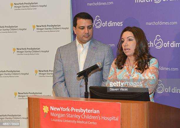 Briana Matthew Tortoso parents of JohnCarlo attend 'March Of Babies' awareness event at New York Presbyterian Morgan Stanley Children's Hospital on...