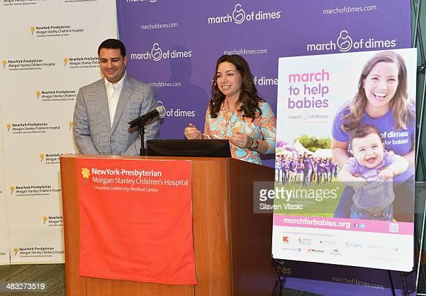 Briana Matthew Tortoso parents of JohnCarlo Tortoso attend 'March Of Babies' awareness event at New York Presbyterian Morgan Stanley Children's...