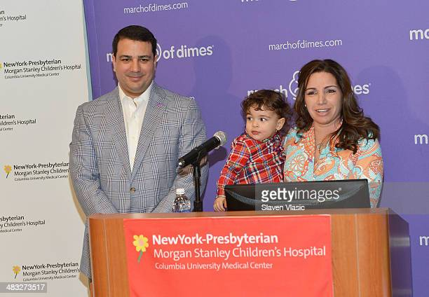Briana Matthew Tortoso with son JohnCarlo attend 'March Of Babies' awareness event at New York Presbyterian Morgan Stanley Children's Hospital on...