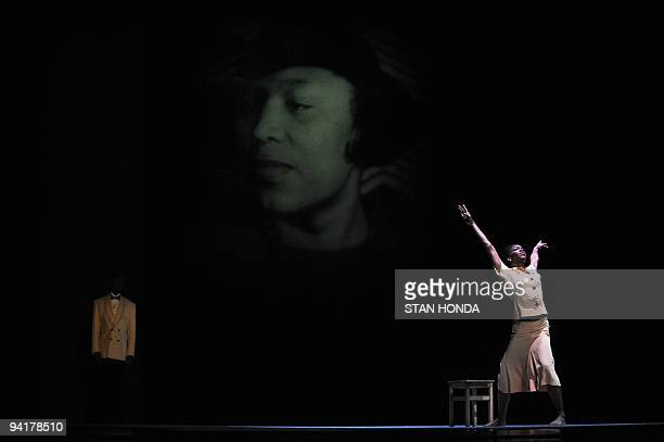 Briana Reed of the Alvin Ailey American Dance Theater during dress rehearsal of Uptown chorographed by Matthew Rushing December 9 2009 in New York...