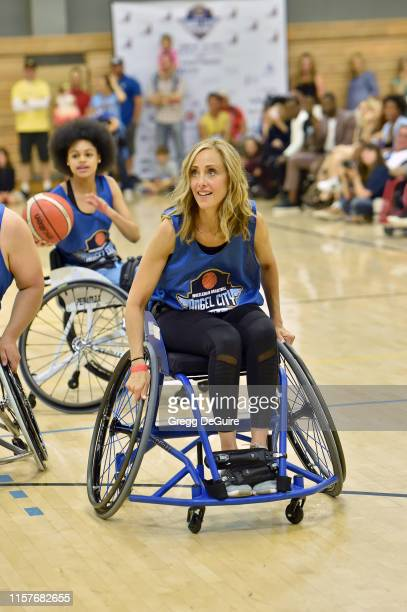 Briana Roy and Kim Raver attend 2019 Angel City Games Celebrity Wheelchair Basketball Game Presented By The Hartford on June 22 2019 in Los Angeles...