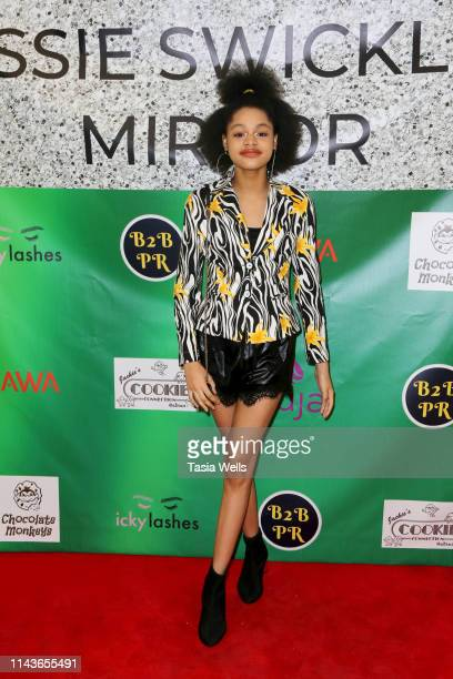 Briana Roy attends Issie Swickle Celebrates the Release of Her New Single Mirror at The Industry Loft Space on April 18 2019 in Hollywood California