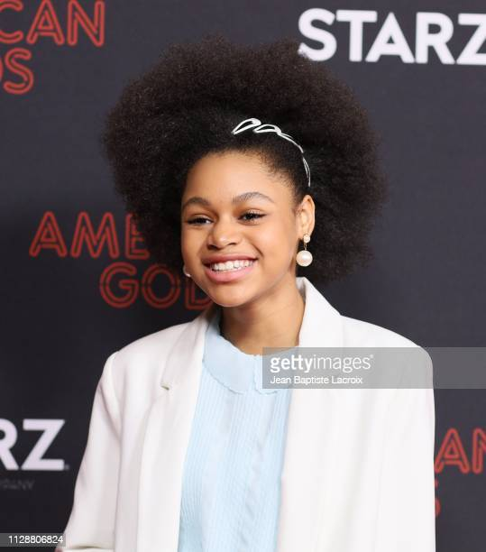 Briana Roy attends the premiere of STARZ's 'American Gods' season 2 at Ace Hotel on March 05 2019 in Los Angeles California