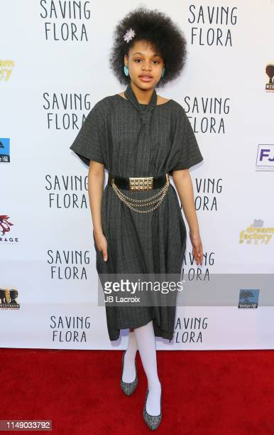 Briana Roy attends the premiere of Synkronized's Saving Flora at the Landmark Theatre on June 10 2019 in Los Angeles California