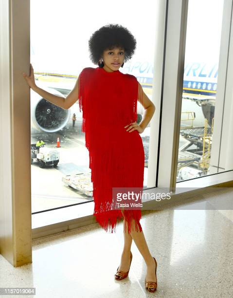 Briana Roy attends the Sebastian Gunawan Couture Homecoming Runway Show at LAX Airport on June 18 2019 in Los Angeles California