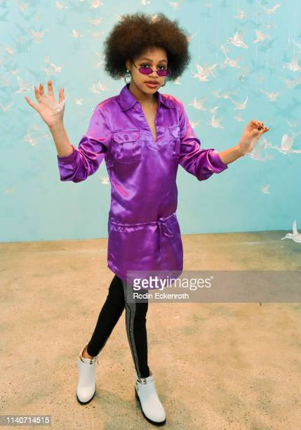 Briana Roy poses for portrait at WonderWorld Hollywood and Experience PopUp Opening Night Party on April 05 2019 in Hollywood California