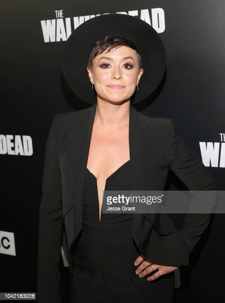 Briana Venskus attends The Walking Dead Premiere and After Party on September 27 2018 in Los Angeles California
