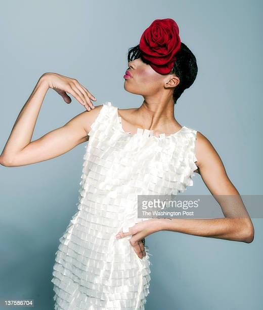 Briana Williams is wearing a dress by Corja International added with a bold red hair accessory Fashion consultant Glynn Jackson uses The Big Bold and...