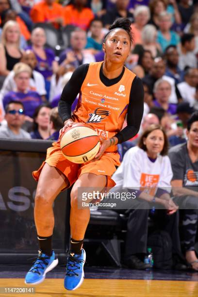Briann January of Phoenix Mercury shoots the ball during the game against the Las Vegas Aces on May 31 2019 at the Talking Stick Resort Arena in...
