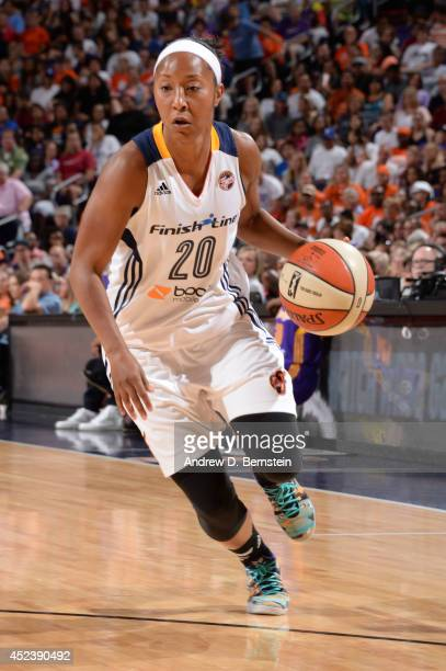 Briann January of the Eastern Conference AllStars drives to the basket during the 2014 Boost Mobile WNBA AllStar Game on July 19 2014 at US Airways...