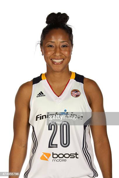 Briann January of the Indiana Fever poses for a portrait during Fever Media Day on May 27 2015 at Bankers Life Fieldhouse in Indianapolis Indiana...