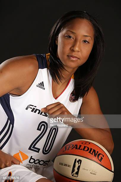 Briann January of the Indiana Fever poses for a portrait during the 2013 Media Day on May 13 2013 at Bankers Life Fieldhouse in Indianapolis Indiana...