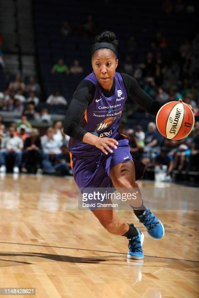 Briann January of the Phoenix Mercury drives to the basket during the game against the Minnesota Lynx on June 6 2019 at Target Center in Minneapolis...