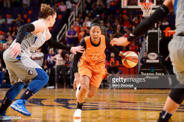 Danielle Robinson of the Minnesota Lynx goes to the basket against the Phoenix Mercury on July 21 2018 at Talking Stick Resort Arena in Phoenix...
