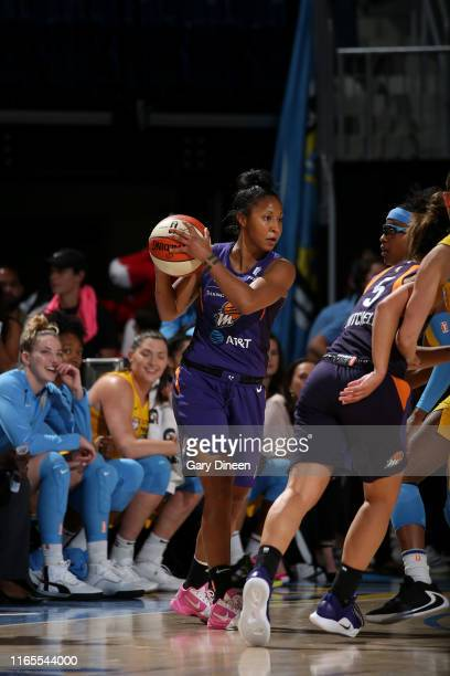 Briann January of the Phoenix Mercury handles the ball against the Chicago Sky on September 1 2019 at the Wintrust Arena in Chicago Illinois NOTE TO...