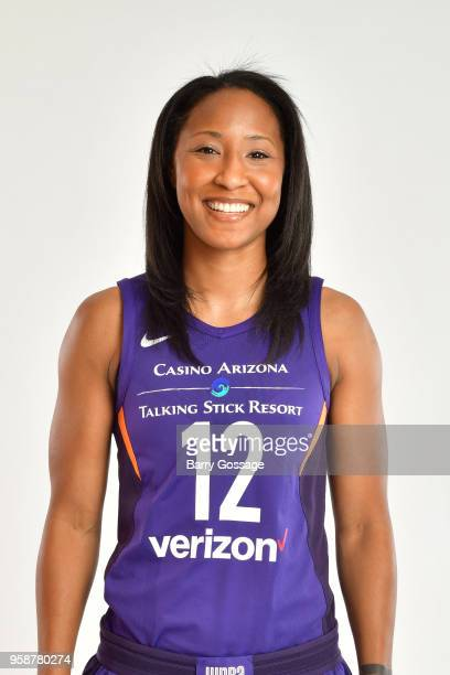 Briann January of the Phoenix Mercury poses for a head shot during Media Day on May 14 at Talking Stick Resort Arena in Phoenix Arizona NOTE TO USER...