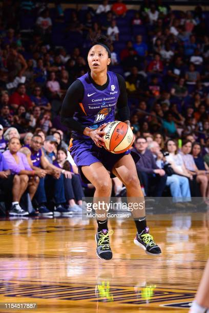 Briann January of the Phoenix Mercury prepares to shoots the ball during the game against the Atlanta Dream on July 7 2019 at the Talking Stick...