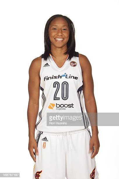 Briann January poses for a photo during the Indiana Fever media day on May 13 2013 at Bankers Life Fieldhouse in Indianapolis Indiana NOTE TO USER...