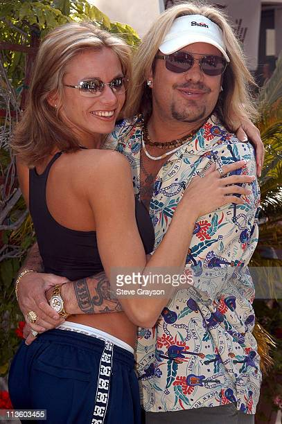 Brianna Banks and Vince Neil during The 7th Annual Skylar Neil Memorial Golf Tournament at Malibu Canyon Country Club in Malibu California United...