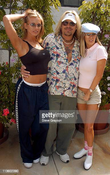 Brianna Banks Vince Neil and Jenna Jameson during The 7th Annual Skylar Neil Memorial Golf Tournament at Malibu Canyon Country Club in Malibu...