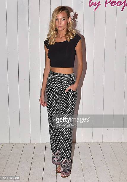 Brianna Barnes attends the 6 Shore Road by Pooja Resort 2016 collection during FUNKSHION Fashion Week Miami Beach Swim at the FUNKSHION Tent on July...