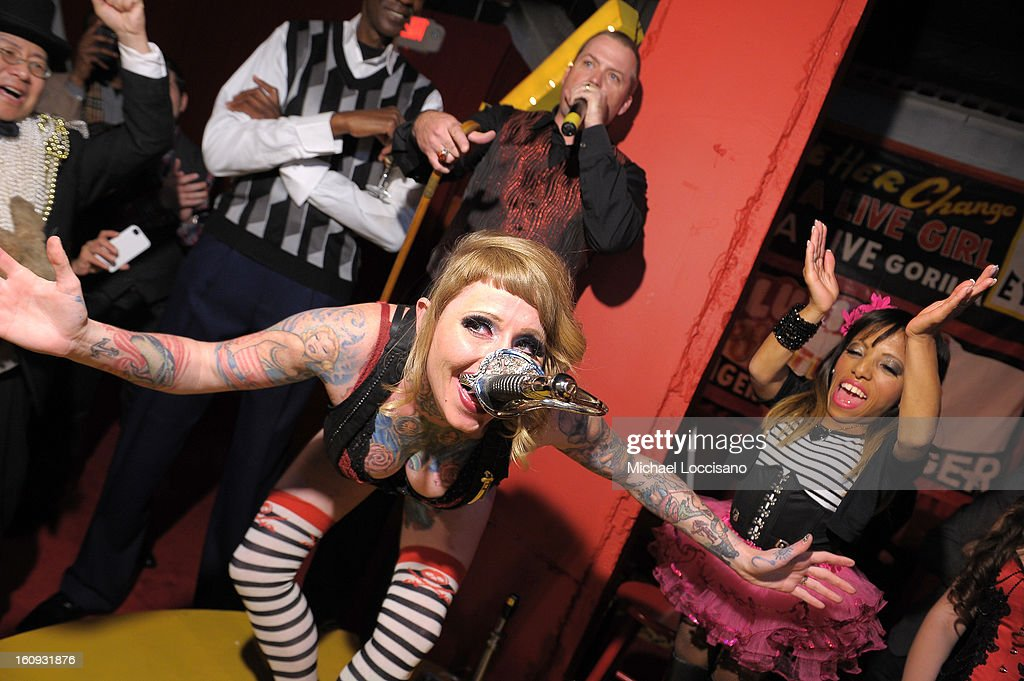 Brianna Belladonna performs at Immortal Love Pop-up Experience - Freakshow & Immortalized on February 7, 2013 in New York City.