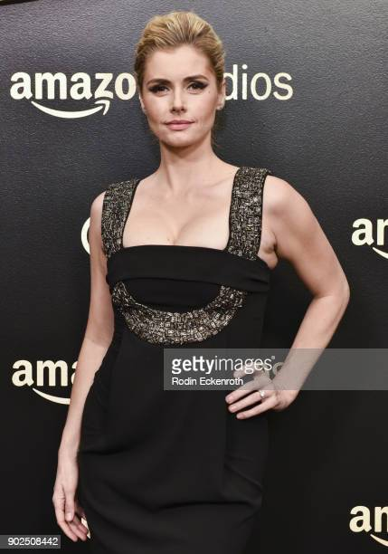 Brianna Brown arrives at the Amazon Studios Golden Globes Celebration at The Beverly Hilton Hotel on January 7 2018 in Beverly Hills California