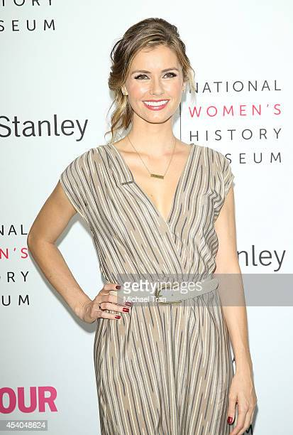 Brianna Brown arrives at the National Women's History Museum's 3rd Annual Women Making History event held at Skirball Cultural Center on August 23...