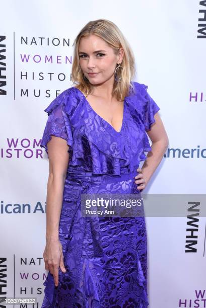 Brianna Brown attends National Women's History Museum's 7th Annual Women Making History Awards at The Beverly Hilton Hotel on September 15 2018 in...