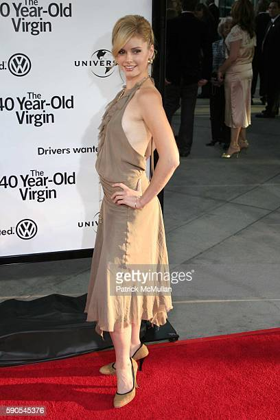 Brianna Brown attends 'The 40 Year Old Virgin' World Premiere at Arcllight Cinemas on August 11 2005 in Hollywood CA
