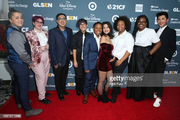 Brianna Davis Anais Canepa Sameer Jha Kian TortorelloAllen JP Grant Sayer Kirk Ruby Noboa Imani Sims and Darid Prom attend the GLSEN Respect Awards...